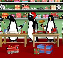 Christmas Penguin Workshop by Paul Fleet
