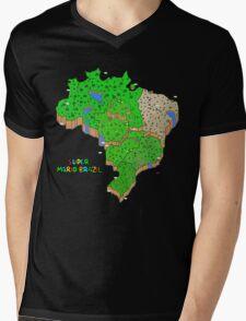 Super Mario Brazil Mens V-Neck T-Shirt
