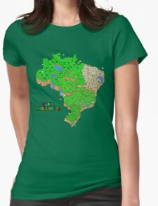Super Mario Brazil Womens Fitted T-Shirt
