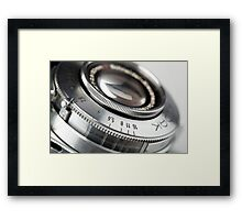 1950's Kodak camera lens Framed Print
