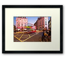 London Piccadilly circus at night Framed Print