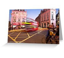 London Piccadilly circus at night Greeting Card