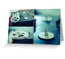 Vintage Blues (triptych) Greeting Card