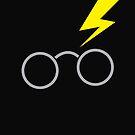 Nerdy boy glasses with lightning strike by jazzydevil
