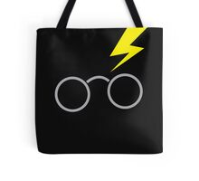 Nerdy boy glasses with lightning strike Tote Bag