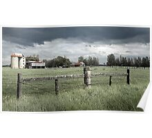 Silos and Storms - Bolong Rd, Bolong NSW Poster
