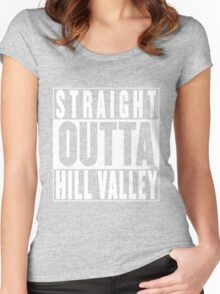 Straight Outta Hill Valley Women's Fitted Scoop T-Shirt