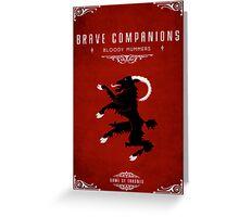 Brave Companions Greeting Card