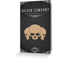 Golden Company Greeting Card