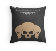 Golden Company Throw Pillow