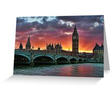 Houses of prliement London Greeting Card