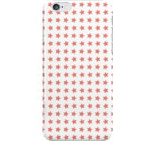 Pink stars over white background iPhone Case/Skin