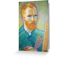 pastel portrait of the Master Vincent Van Gogh Greeting Card