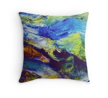 Turbulent Stream Abstract Throw Pillow