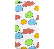 Pattern of hand drawn speech bubbles made in different colors. Fully editable illustration drawn in vector by hand. iPhone Case/Skin