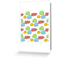 Pattern of hand drawn speech bubbles made in different colors. Fully editable illustration drawn in vector by hand. Greeting Card