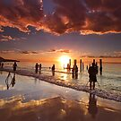 Busy Beach by KathyT