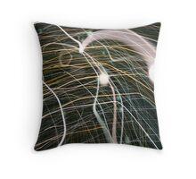 light trails Throw Pillow