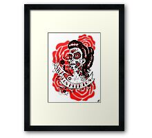 Day of the Dead Girl bust 3 Framed Print