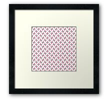 Geometric abstract pattern over white background.  Framed Print