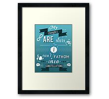 The Fault in Our Stars quote Framed Print