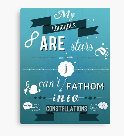 The Fault in Our Stars quote Canvas Print