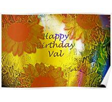Happy Birthday Val! Poster