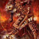 Fire Planet Outpost by Matt Bissett-Johnson