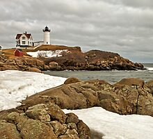Nubble Snow, York, ME by Stephen Cross Photography