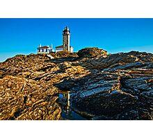 Beavertail Light, Jamestown, RI Photographic Print