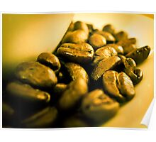 Golden coffee beans Poster