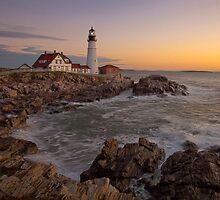 Portland Head Light Pre-Dawn, Cape Elizabeth, ME by Stephen Cross Photography