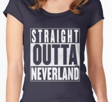 Straight Outta Neverland Women's Fitted Scoop T-Shirt