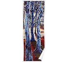 'Trees in Sunrise' Poster