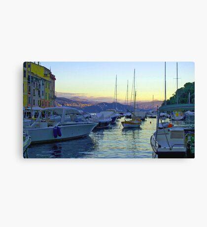 Moody Portofino Canvas Print