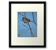 Your Heavenly Father Feeds the Birds Framed Print