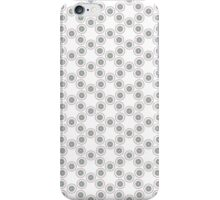 Geometric pattern with grey circles iPhone Case/Skin