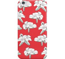 Yasmin Collection - Geraniums, Red iPhone Case/Skin