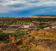 Augrabies rock formations. by Rudi Venter