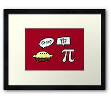 Pie and Pi Framed Print