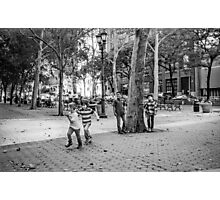 Kids Playing East Side Photographic Print
