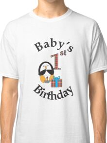 Baby's 1st Birthday Penguin Classic T-Shirt