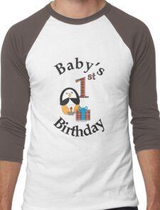 Baby's 1st Birthday Penguin Men's Baseball ¾ T-Shirt