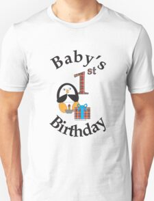 Baby's 1st Birthday Penguin T-Shirt