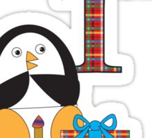 Baby's 1st Birthday Penguin Sticker