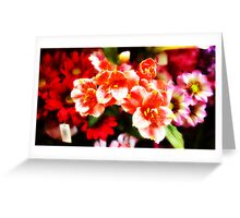 Faux flowers Greeting Card