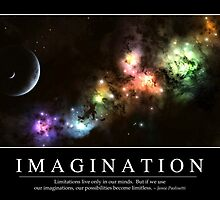 Imagination: Inspirational Quote and Motivational Poster by StocktrekImages