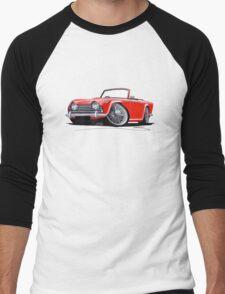 Triumph TR5 Red Men's Baseball ¾ T-Shirt