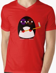 Hockey penguin Mens V-Neck T-Shirt