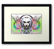 Spring Moon, Expressionism Digigraph by L. R. Emerson II Framed Print